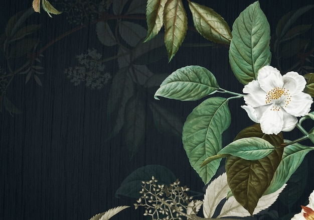 緑の花の背景