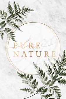 Рамка природы на мраморе