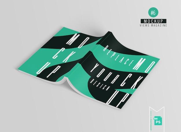 Обложка журнала, макет каталога на сером фоне