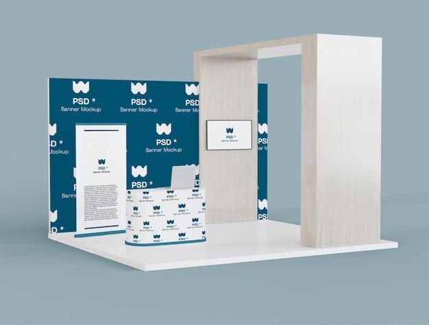 展示およびプロモーションスタンドのモックアップ