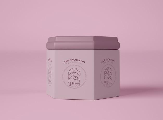 アイスクリームジャー包装モックアップ