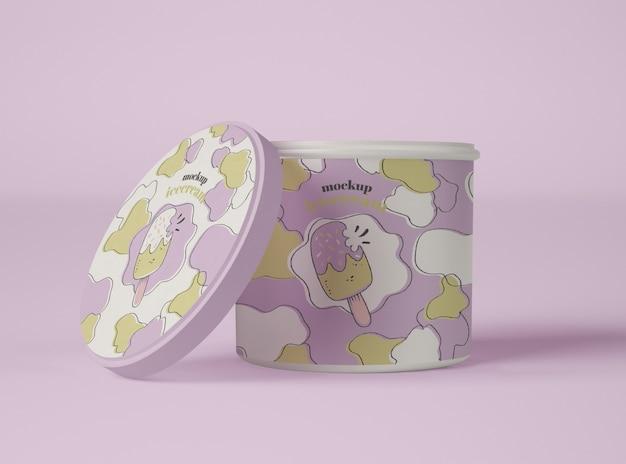 アイスクリーム紙コップのモックアップ