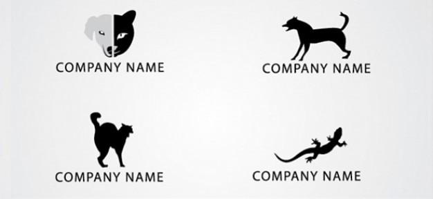 無料の動物のロゴのデザインテンプレートセット