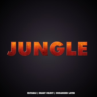 映画のようなジャングルスタイルのテキスト効果