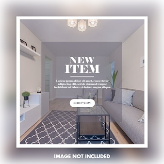家具販売のためのソーシャルメディア投稿テンプレート