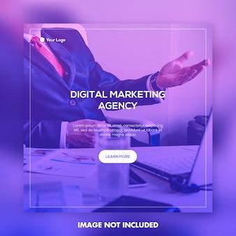 Шаблон рекламного баннера для креативного агентства