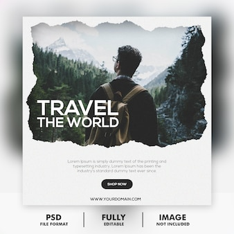 Шаблон поста о путешествии