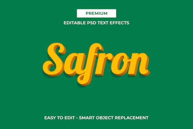 サフロン-エレガントなパントンカラーテキストエフェクト