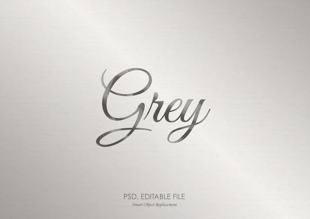 灰色のテキスト効果モックアップ