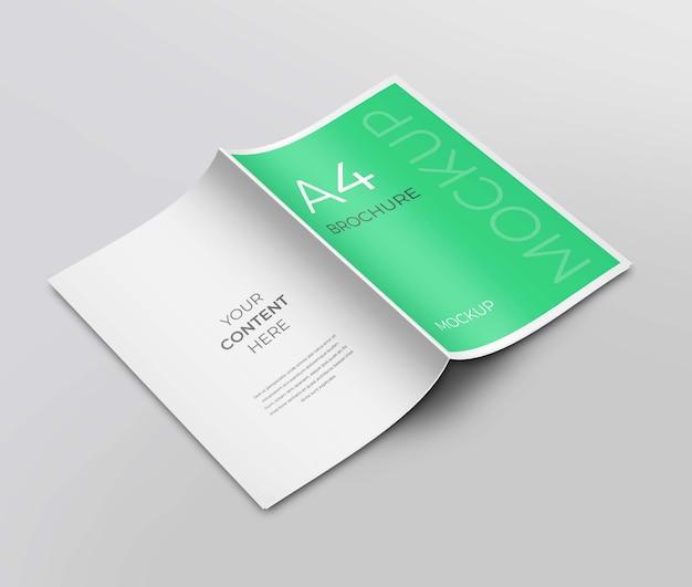 Макет брошюры с задней и передней страницы