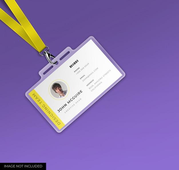 Корпоративный офис удостоверение личности с макетом