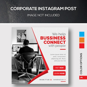 Корпоративный квадратный баннер или флаер шаблон
