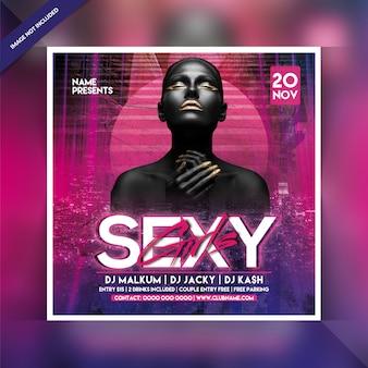 Флаер вечеринки для сексуальных девушек