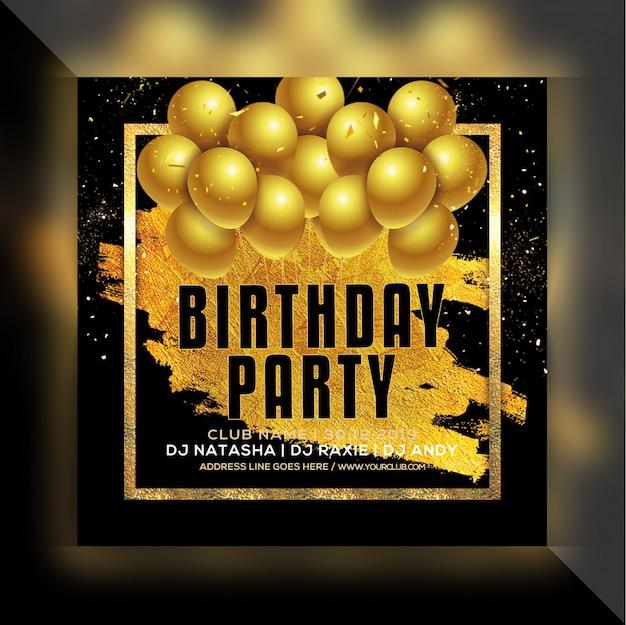 誕生日パーティーのフライヤー