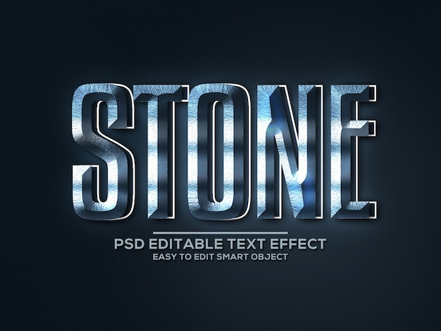 石のスタイルのテキスト効果