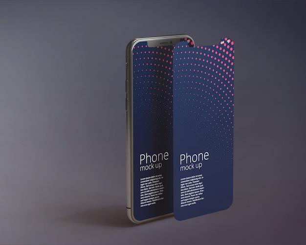 現代のスマートフォンスクリーンモックアップ