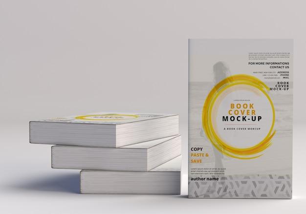 Макет большой книги в мягкой обложке