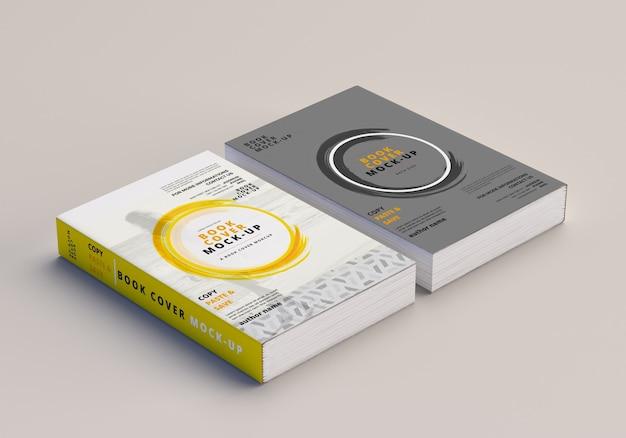 ソフトカバー大きい本のモックアップ