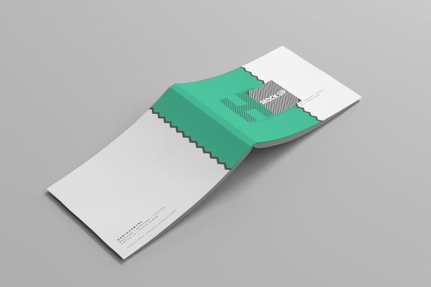 Горизонтальный макет обложки журнала