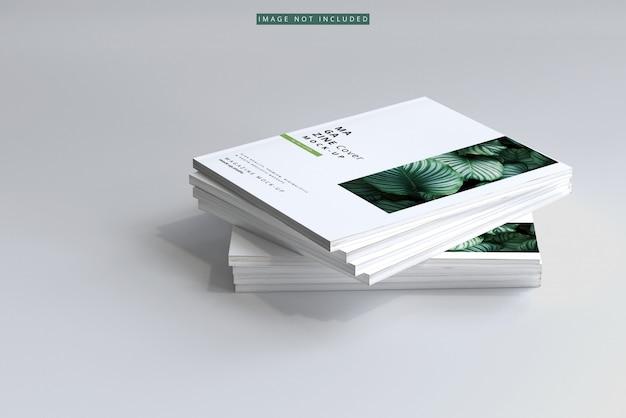 雑誌の表紙のモックアップ