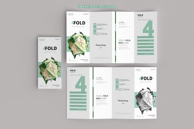 Макет брошюры в четыре раза