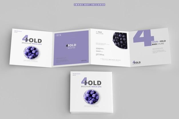 Четырехугольные макеты для брошюр