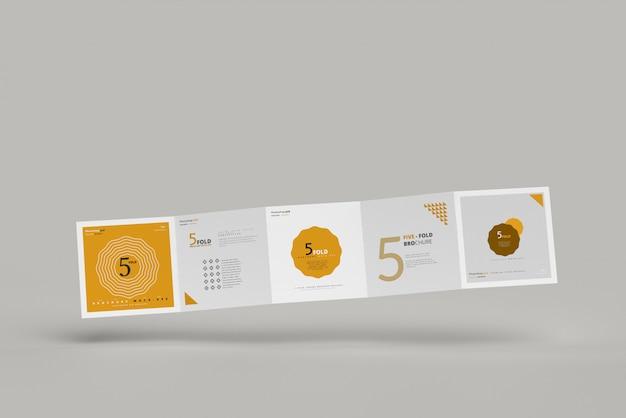 Макет брошюры с пятью квадратами