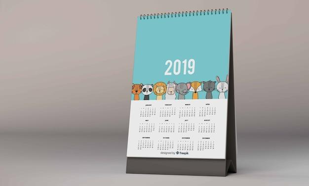 Настольный календарь макета