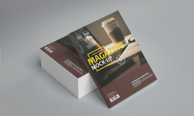 Макет фотореалистичного журнала