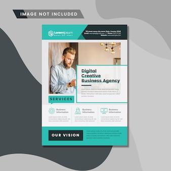 Чистый бизнес листовка макет