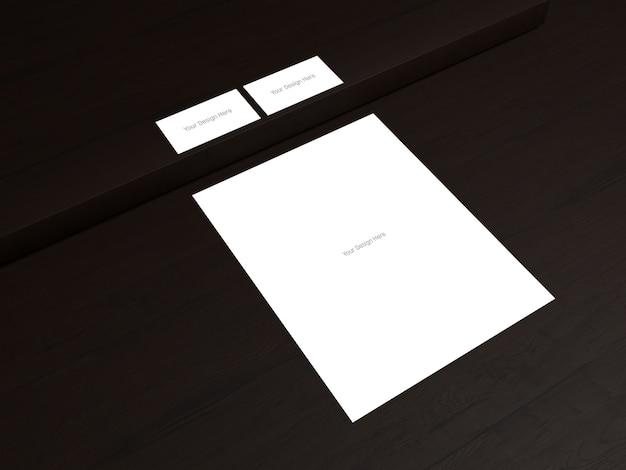名刺の表裏 - 文字 - ダークウッドの背景