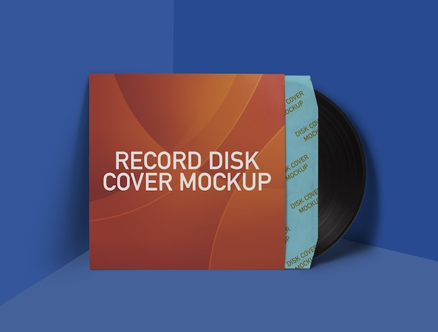 レコードディスクカバーモックアップ