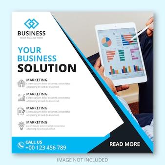 Шаблон веб-маркетинга бизнес баннеров