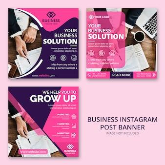 Бизнес инстаграм пост баннер