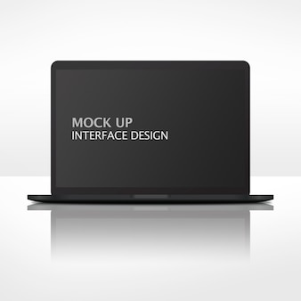 モックアップインターフェイス現代のラップトップコンピューター
