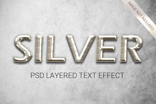 Текстовый эффект в серебряном стиле