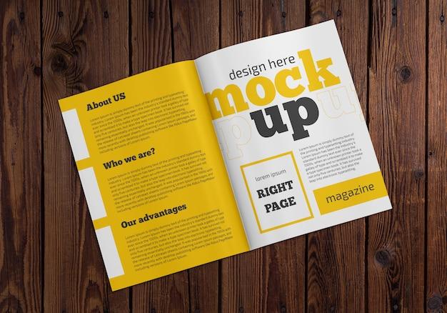 Журнал макет на деревянный стол