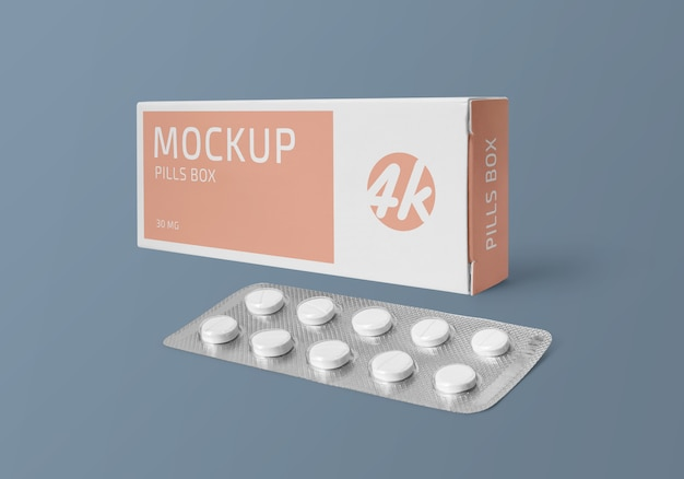 薬のブランド化と包装のモックアップ
