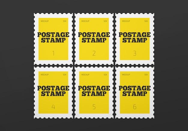郵便切手のモックアップ
