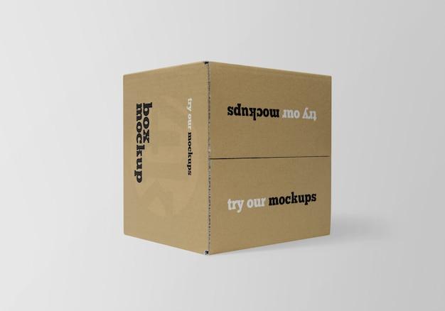 正方形の紙箱のモックアップ