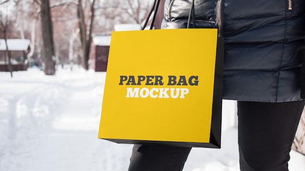 Бумажный пакет макет