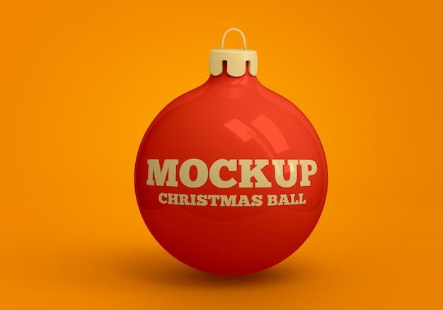 クリスマスボールモックアップ