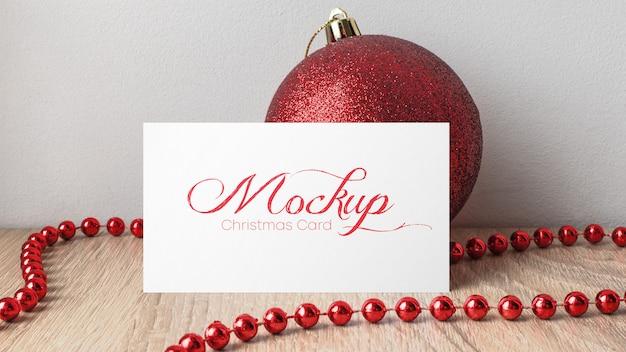 Рождественская открытка макет