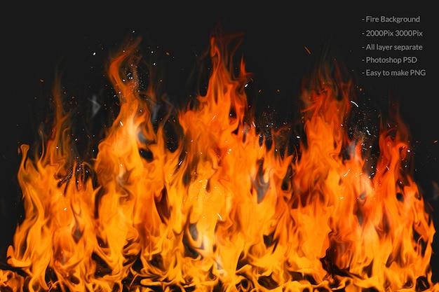 Фон из пламени огня