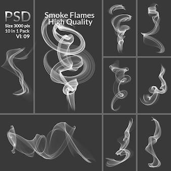 煙コレクション分離の透明な背景