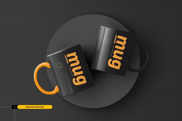 コーヒーカップ。マグモックアップ