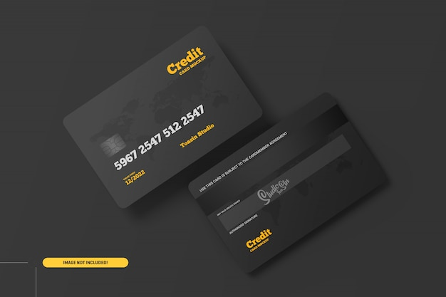 Кредитные карты. макет подарочных карт