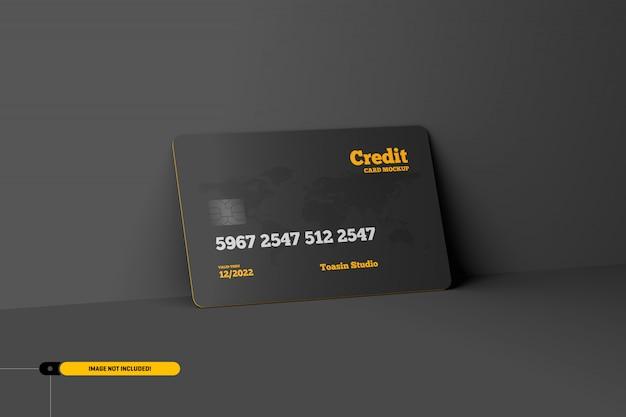 クレジットカード。ギフトカードのモックアップ