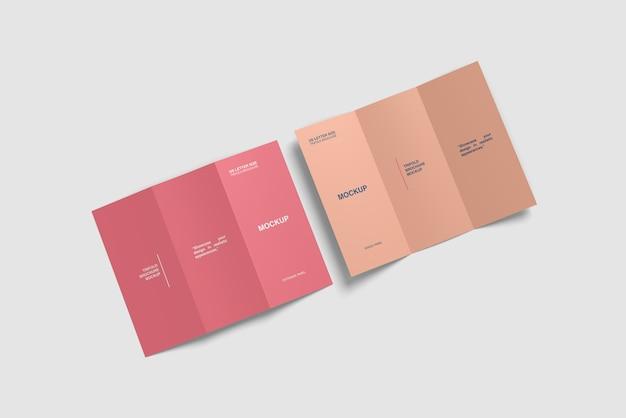 Два тройных макета брошюры