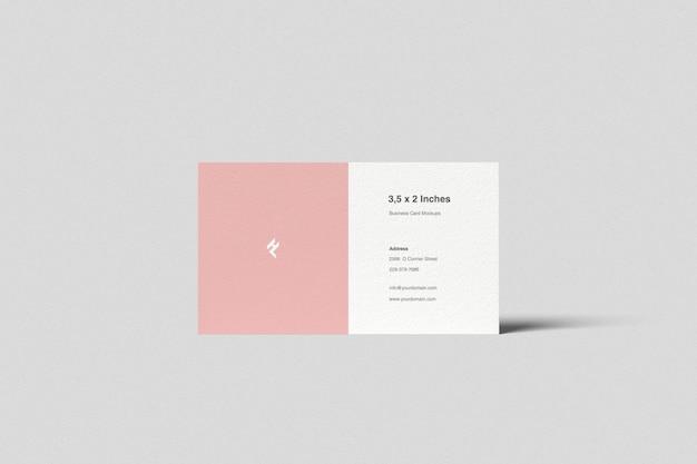 Дюймов макет визитной карточки, вид спереди